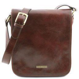 TL Messenger Кожаная сумка на плечо с 2 отделениями Коричневый TL141255