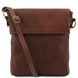 Morgan Leather shoulder bag Brown TL141511