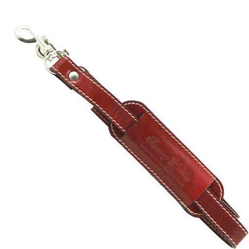 Tracolla in pelle regolabile per borsoni Rosso SP141028