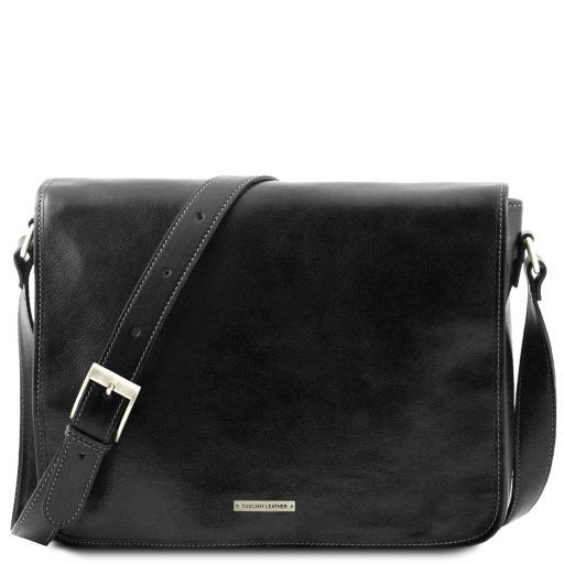 Messenger double Freestyle - Borsa in pelle Nero TL90475
