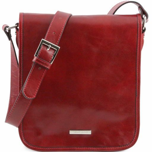 2527804b0d6e TL Messenger Two Compartments Leather Shoulder bag Red TL141255