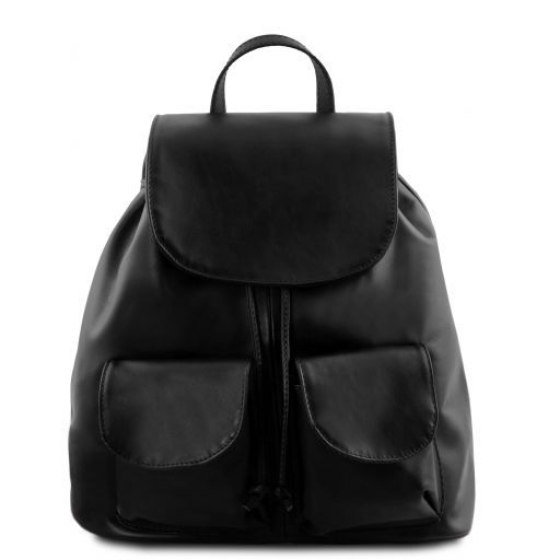 Seoul Leather backpack Large size Black TL141507
