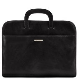 Sorrento Document Leather briefcase Black TL141022