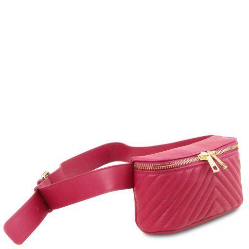 TL Bag Bauchbeutel aus weichem Leder Magenta TL141741
