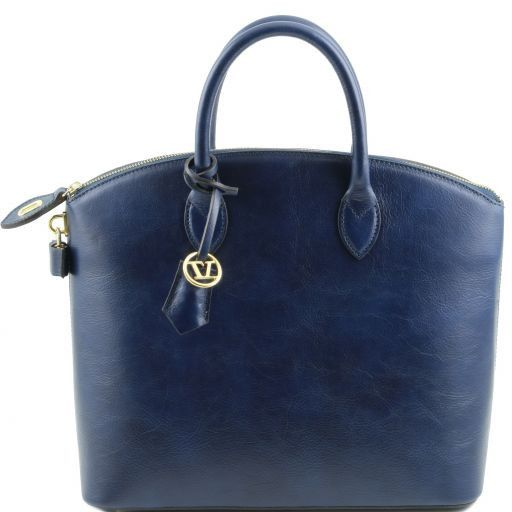 TL Bag Borsa shopper in pelle Blu scuro TL141263