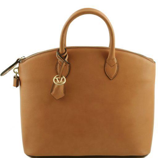 TL Bag Borsa shopper in pelle Cognac TL141263