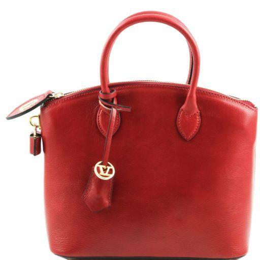 TL Bag Shopper Tasche aus Leder - Klein Rot TL141264