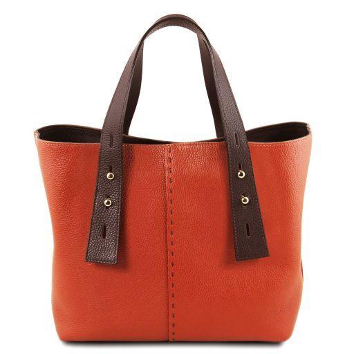 TL Bag Leather shopping bag Brandy TL141730