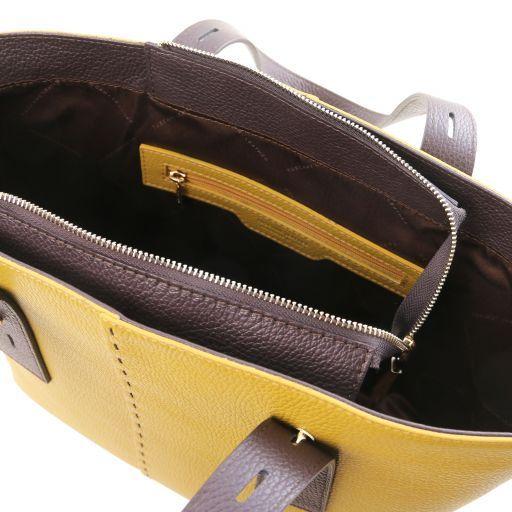 TL Bag Leather shopping bag Mustard TL141730