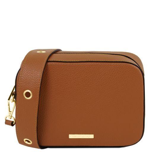TL Bag Leather shoulder bag Cognac TL141733