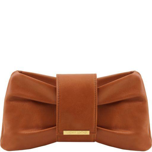 Priscilla Clutch leather handbag Cognac TL141801