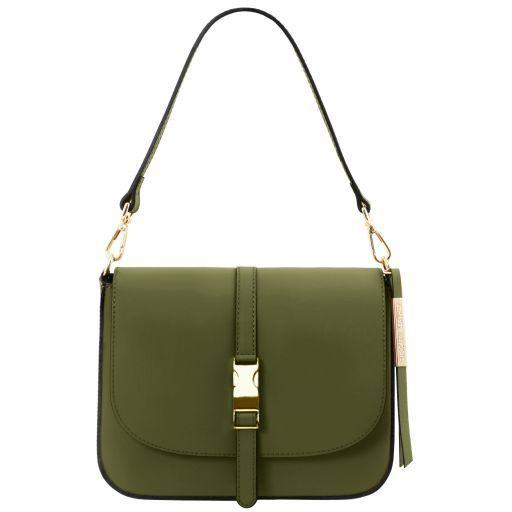 53a03888e54 Nausica Leather Shoulder bag Olive Green TL141598