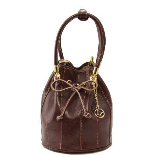 Clara Кожаная сумка-мешок Коричневый TL60193