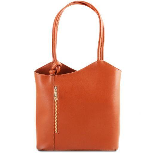 Patty Saffiano leather convertible bag Brandy TL141455