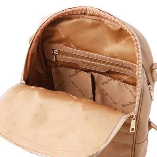TL Bag Soft leather backpack for women Champagne TL141376