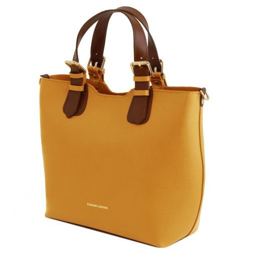 TL Bag Borsa shopping in pelle Saffiano Senape TL141696