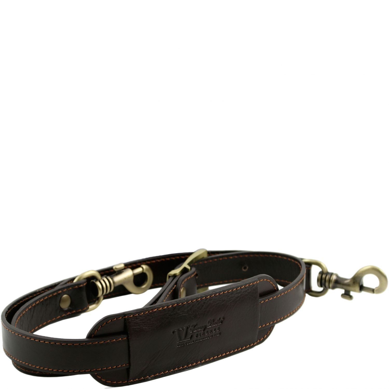 Bild av Adjustable leather shoulder strap Dark Brown