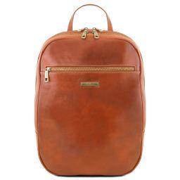 Osaka Notebook Rucksack aus Leder Honig TL141711