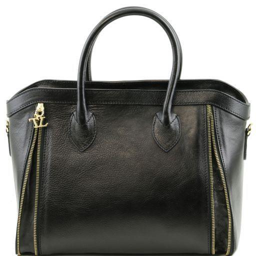 TL Bag Borsa a mano con zip frontali Nero TL141279