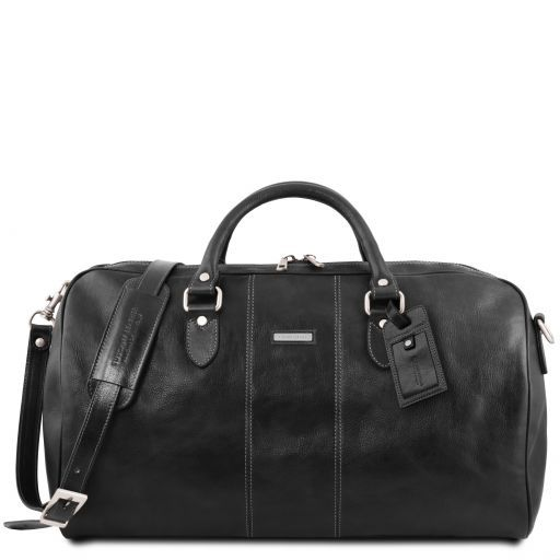 Lisbona Travel leather duffle bag - Large size Black TL141657