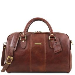Lisbona Travel leather duffle bag - Small size Brown TL141658
