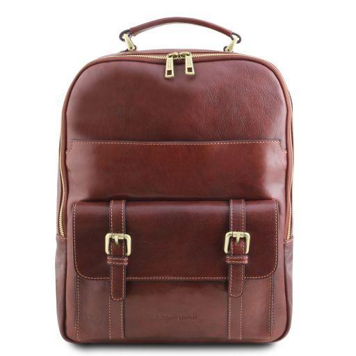 Nagoya Leather laptop backpack Brown TL141857