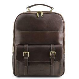 Nagoya Notebook Rucksack aus Leder Dunkelbraun TL141857