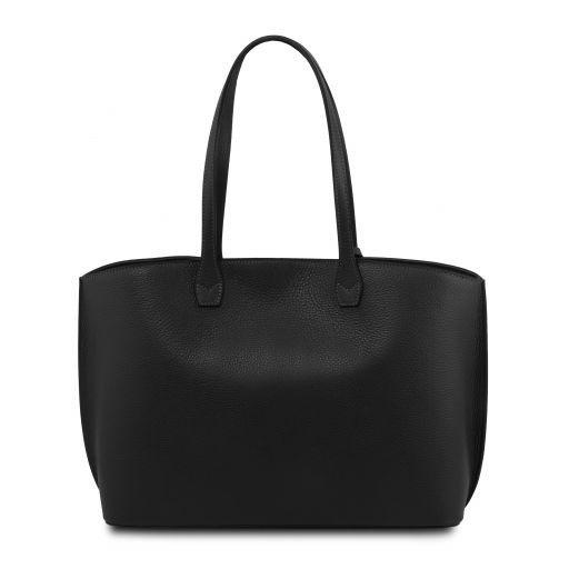 TL Bag Borsa tote in pelle morbida Nero TL141828