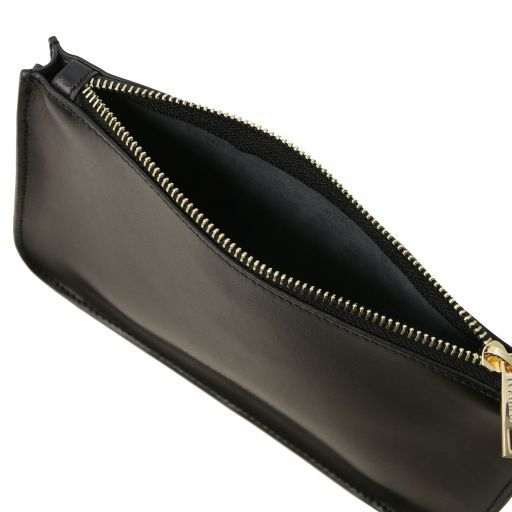 Cassandra Leather clutch handbag Black TL141870
