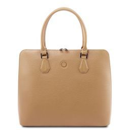 Magnolia Leather business bag for women Champagne TL141809