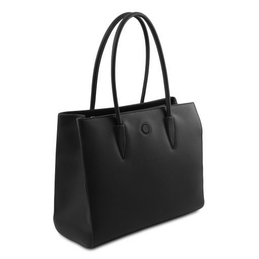 Orchidea Leather shoulder bag Black TL141810