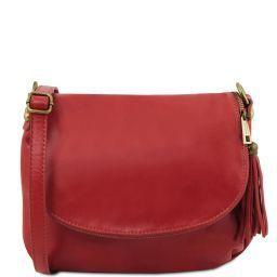 TL Bag Borsa morbida a tracolla con nappa Rosso TL141223