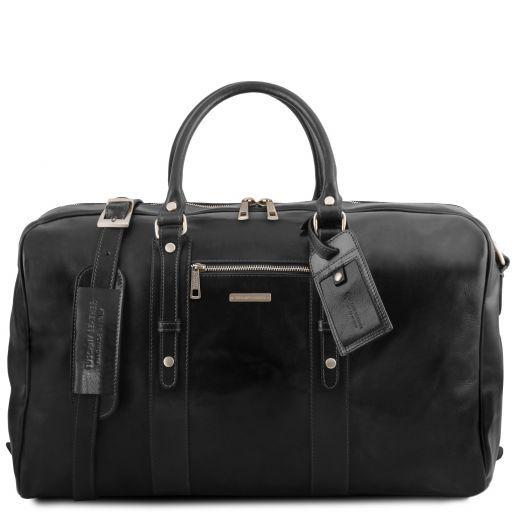 TL Voyager Leather travel bag with front pocket Черный TL141401