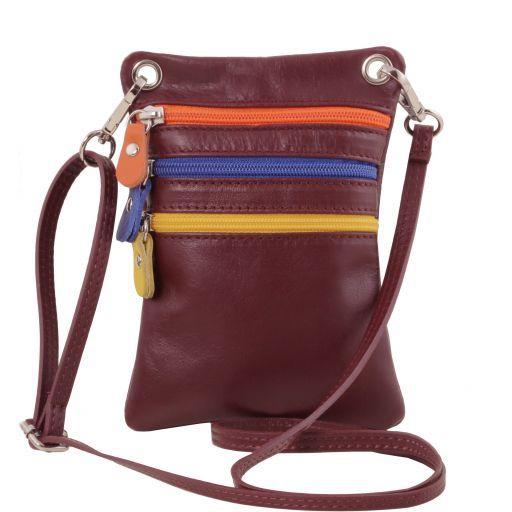 TL Bag Bolsillo unisex en piel suave Bordeaux TL141094