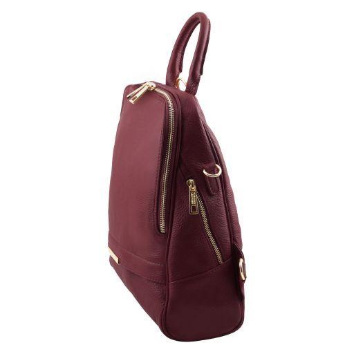 TL Bag Mochila para mujer en piel suave Bordeaux TL141376
