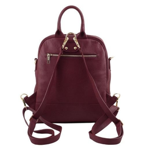 TL Bag Zaino donna in pelle morbida Bordeaux TL141376