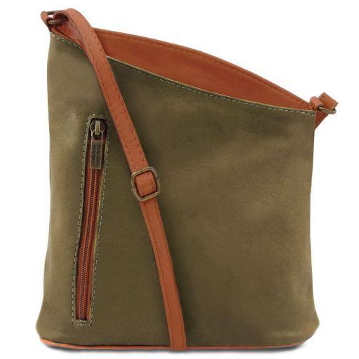 TL Bag Mini soft leather unisex cross bag Olive Green TL141111