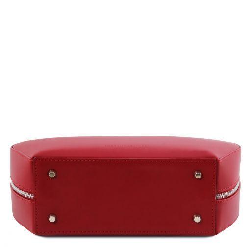 Ninfa Sac rond en cuir Rouge TL141872