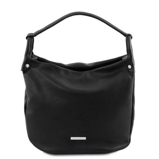 TL Bag Soft leather hobo bag Black TL141855
