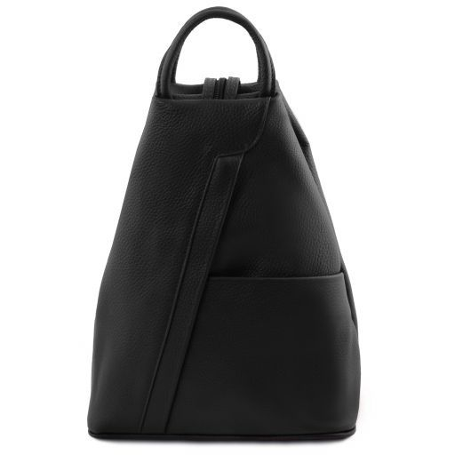 Shanghai Leather backpack Black TL141881
