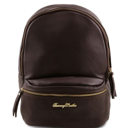 TL Bag Soft leather backpack for women Темно-коричневый TL141320