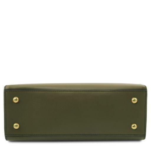 Aura Leather handbag Olive Green TL141434