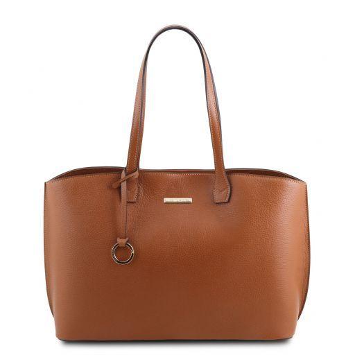 TL Bag Bolso shopping en piel Cognac TL141828
