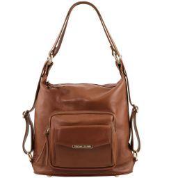 TL Bag Женская кожаная сумка-рюкзак 2 в 1 Cinnamon TL141535