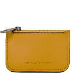 Porta llaves en piel Mostaza TL141671