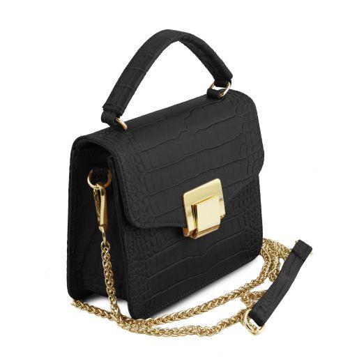 TL Bag Mini borsa in pelle effetto cocco Nero TL141890