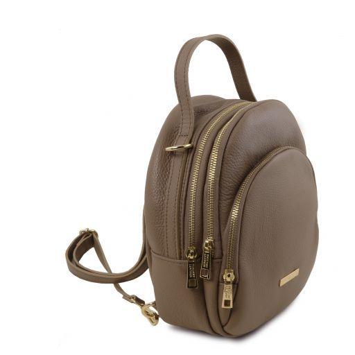 TL Bag Sac à dos pour femme en cuir Taupe foncé TL141743