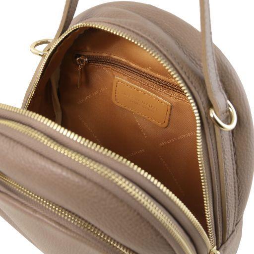 TL Bag Damenrucksack aus Leder Dunkel Taupe TL141743