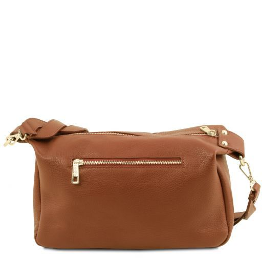 TL Bag Bauletto in pelle morbida Cognac TL141746