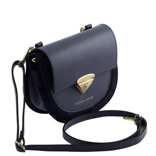 Talia Leather handbag Dark Blue TL141882